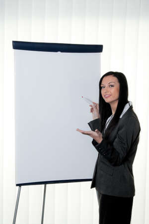 flip chart: coach before empty flipchart on education and training