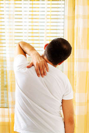 a man woke up the morning after the pain. Stock Photo - 12080722