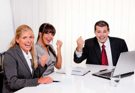 successful young team at a meeting in office Stock Photo