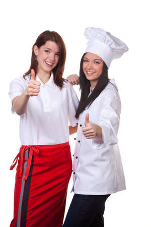 apprenticeships: service and cook together to discuss the menu