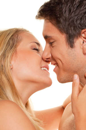 couple has fun and joy. love, eroticism and tenderness in everyday life. Stock Photo - 12147246