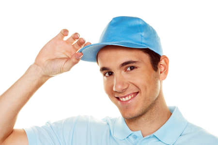 delivers: a messenger of messenger delivers mail service package Stock Photo