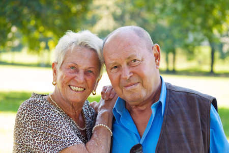 few: mature senior couple in love. portrait of couple