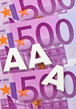 tripple: a rating agency has awarded the 3a letters. triple-a rating from a rating agency.