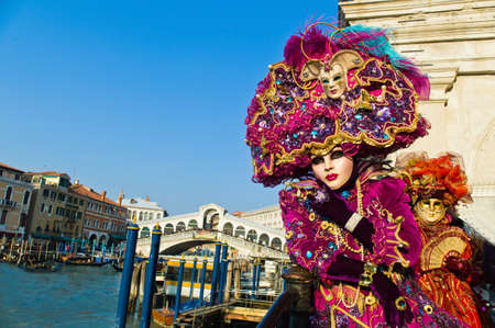 carnival in the unique city of venice in italy  venetian masks Stock Photo - 12762282