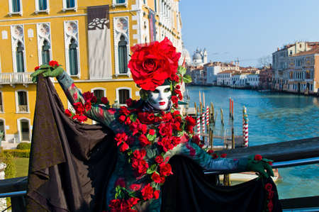 carnevale: carnival in the unique city of venice in italy  venetian masks