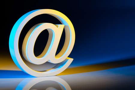 edv: l'e-mail caratteri comunicazione moderna su Internet Archivio Fotografico