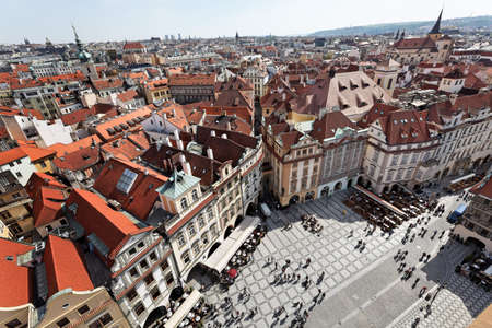 czechia: prague, old town square, view from town hall tower