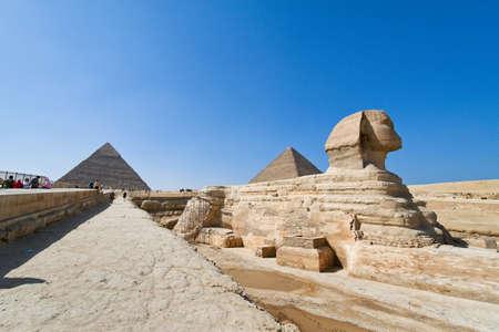 giza: culmination of a journey through egypt  the giza shpinx of the second pyramid Stock Photo