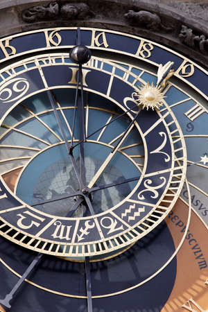 czechia: astronomical clock on old town hall in prague