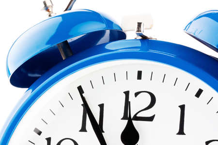 constraints: 11 55 on a clock  time for decisions Stock Photo