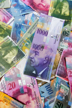 swiss franc: swiss francs, money and currency of switzerland