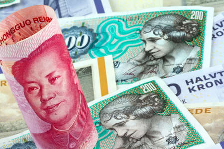 monetary policy: danish kroner  currency of denmark in europe  and chinese yuan