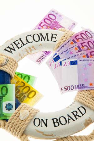 billets euros: salut pour la Grèce symbole de la dette nationale