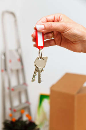the key to an apartment with the move  new tenant moves Stock Photo - 13507508