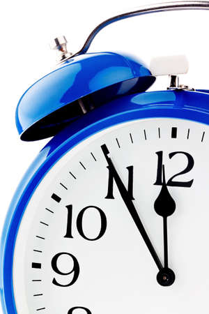 rapidly: 11 55 on a clock  veit for decisions Stock Photo