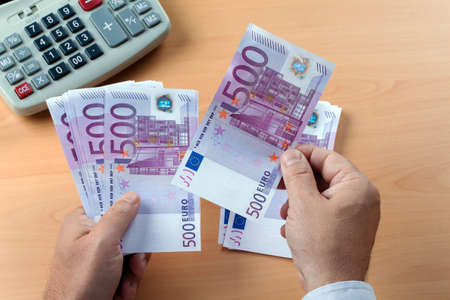 seem: many euro banknotes of the european union