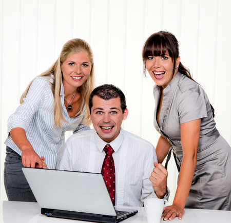 resourceful: successful young team at a meeting in the office Stock Photo