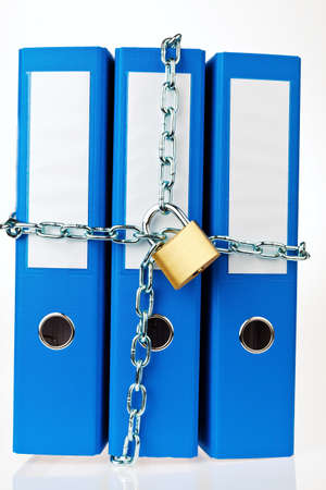 a filing with chain and padlock closed  privacy and data security Stock Photo - 13776860