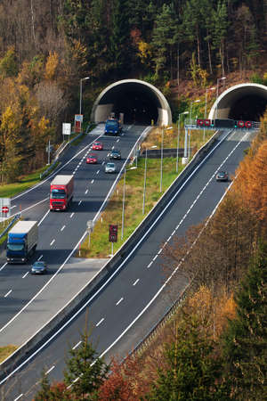 on the tauern motorway in austria, there are many tunnels Stock Photo - 13777084