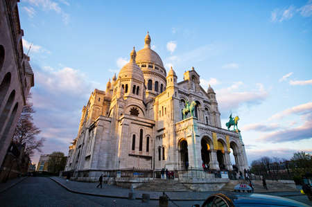 coeur: the church of sacre coeur in montmartre in paris  one of the landmarks of the city Editorial