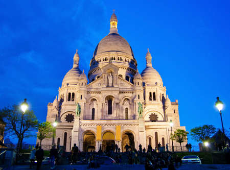 the church of sacre coeur in montmartre in paris  one of the landmarks of the city photo