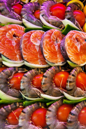 in a fish restaurant fish are to prepare in a display case Stock Photo - 13841500