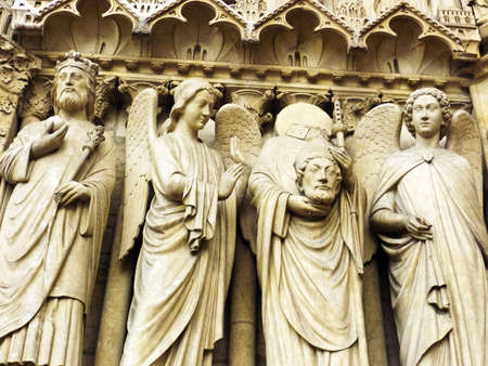 beheaded: the church of notre dame in paris, france  one of the landmarks of the city