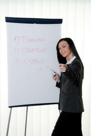 coach flip chart in german  training and education Stock Photo - 13959169