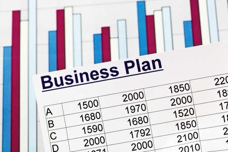 a business plan for starting a business  ideas and strategies for self-employment Stock Photo - 14181651
