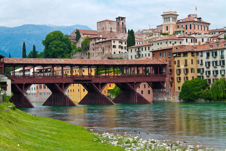 bassano del grappa in the veneto region in italy
