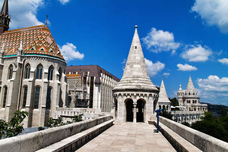 peoplesoft: eurtopa, hungary, budapest, fishermens bastion. one of the landmarks of the city.