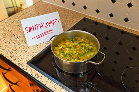 a sign that says to switch off to remind patient with alzheimers dementia. (english) photo