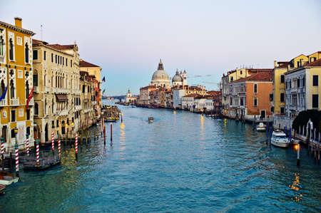 une vue unique sur la ville de Venise en Italie.
