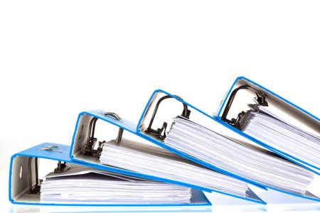 bindmiddel gevuld met documenten en documenten. behoud van contracten. Stockfoto
