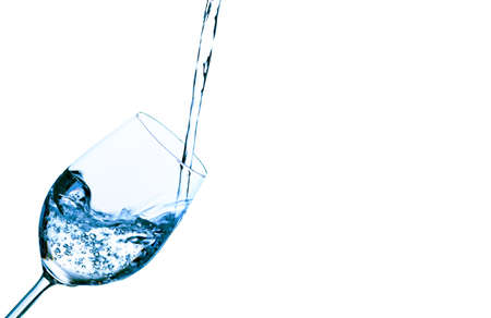 pure and clean water is poured into a glass. drinking water in the glass. Stock Photo - 14358851