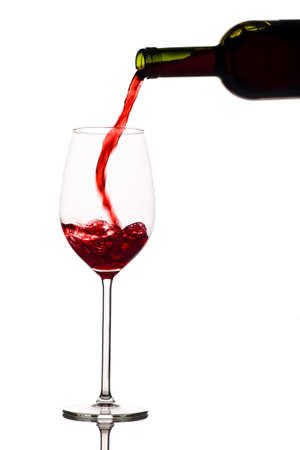 peppy: in a glass of red wine is lively empties. red wine in the wine glass