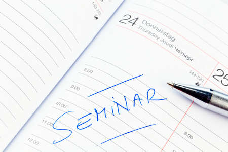 an appointment is entered on a calendar  seminar photo