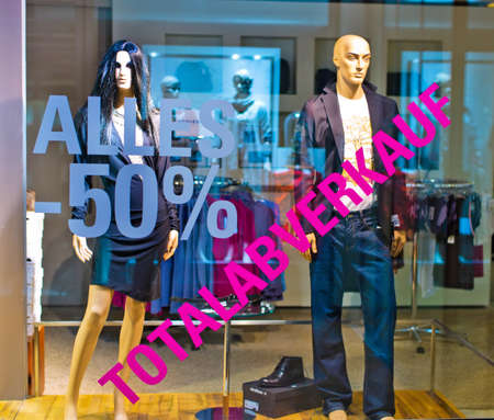 insolvency: in a shop for clothing of the total sale has begun