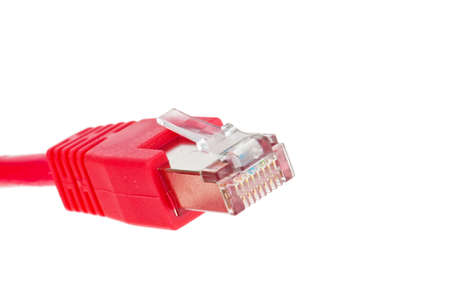 the red wire of a network from a computer  Stock Photo - 14414942