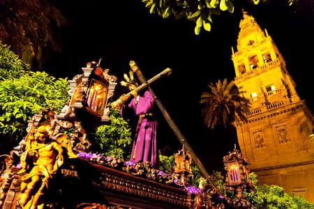 semana santa: 20 04 2011 - spain, andalusia  culmination of holy week processions  semana santa  is  here in cordoba