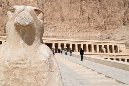 thebes: africa  egypt, western thebes, hatshepsut temple Editorial