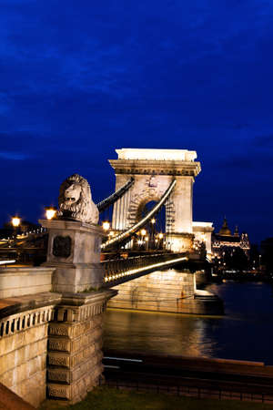 the chain bridge is one of the landmarks of budapest in hungary