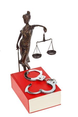 jurisprudencia: un código de rojo con las reglas de la corte isloiert sobre un fondo blanco