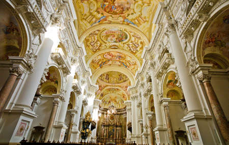 austria, upper austria, st  florian  interior shot of the abbey church