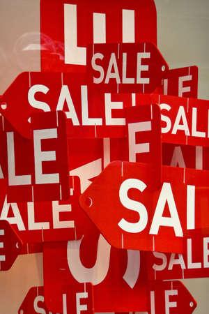 cheaper: Sale in a shop Stock Photo