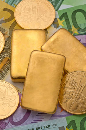 investment in real gold than gold bullion and gold coins  secure investment photo