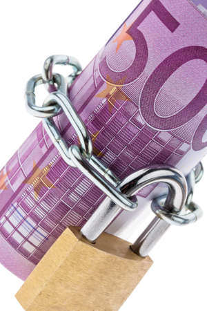 500 euro bill concluded with a chain Stock Photo - 14990090