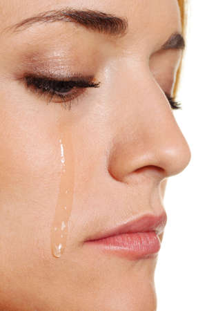 a sad woman weeps tears    Stock Photo - 15512871