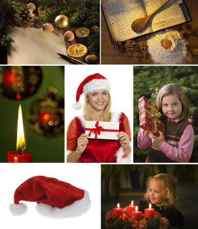 several different images for advent and christmas  photo